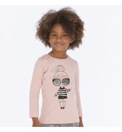 Mayoral футболка для девочек с длинным рукавом 4016