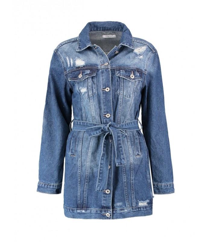 Женская длинная джинсовая куртка Hailys