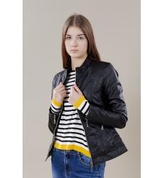 Женская куртка из искусственной кожи 1069