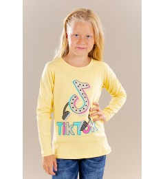 Tüdrukute pikkade varrukatega t-särk TikTok 211006 02