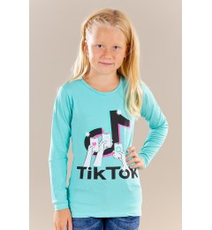 Tüdrukute pikkade varrukatega t-särk TikTok 211005 03