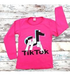 Tüdrukute pikkade varrukatega t-särk TikTok 211005 01