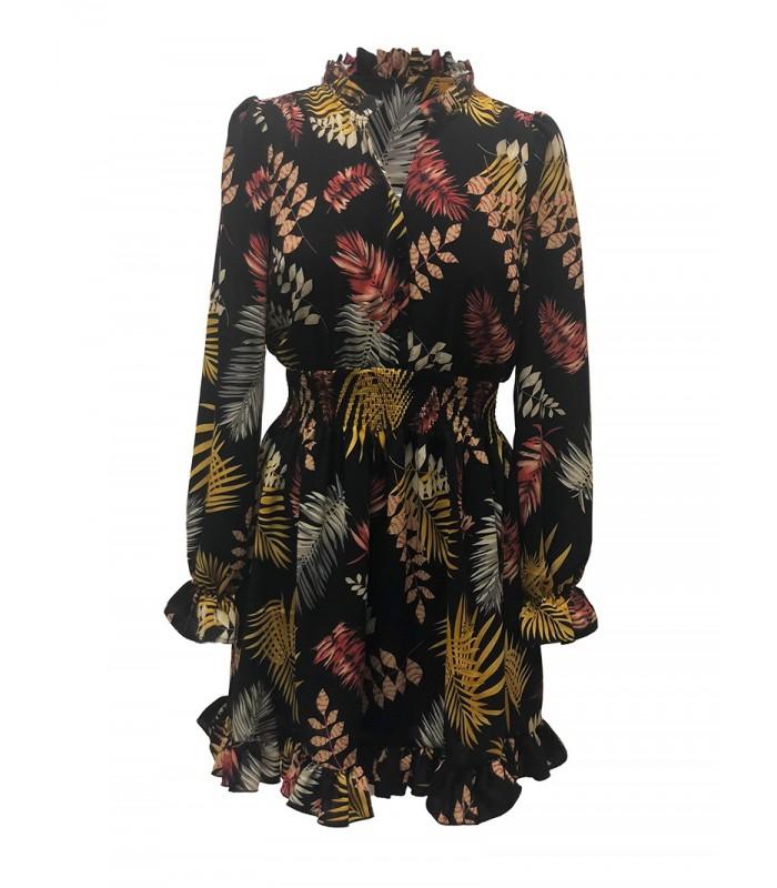 Naiste sügismustriline kleit Lola 28125 (1)